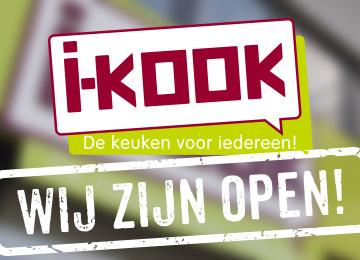 Keukenspecialist I-KOOK is open